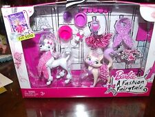 BARBIE FASHION FAIRYTALE PRECIOUS PETS POODLE & KITTY CAT ACCESSORIES MINT NRFB