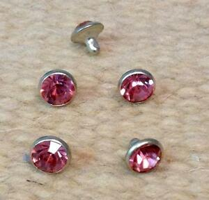 9-2mm-Rivet-Crystal-Concho-PINK-for-Headstall-spurs-Chaps-Saddle-Pad-Craft-Decor