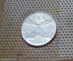 10-dm-gedenkmünzen Original Pp Treu Münze 10 Mark Brd 1998 J 300 Jahre Franckesche Stiftungen Pp J Münzen Varia 470 Nr.8400 ZuverläSsige Leistung