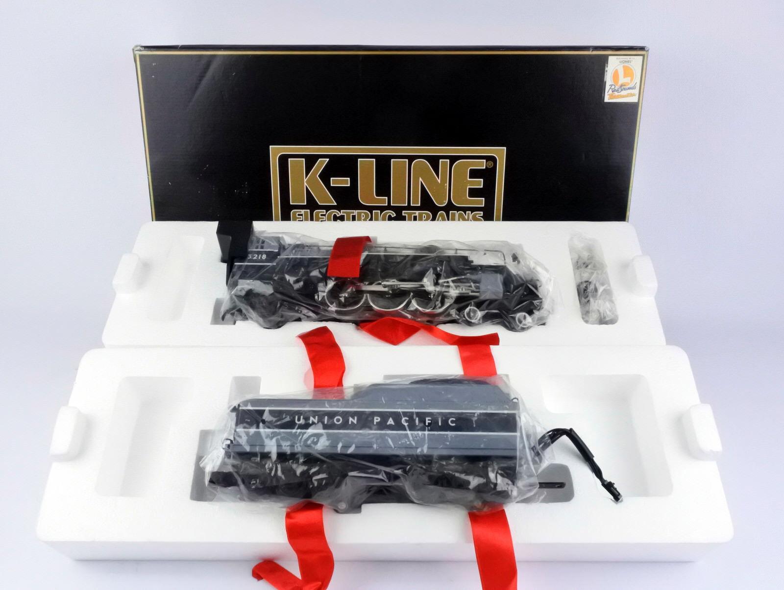 K-LINE SEMI-SCALE 3218 DIE CAST UNION PACIFIC 4-6-2 ENGINE & TENDER W RAIL SOUND