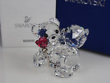 SWAROVSKI KRIS BEAR,  A ROSE FOR YOU RETIRED 2013 MIB #1077419