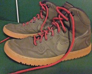 a99303dca3cb Nike Son Of Force Mid Winter Dark Loden Green Red Men s Size 10.5 ...