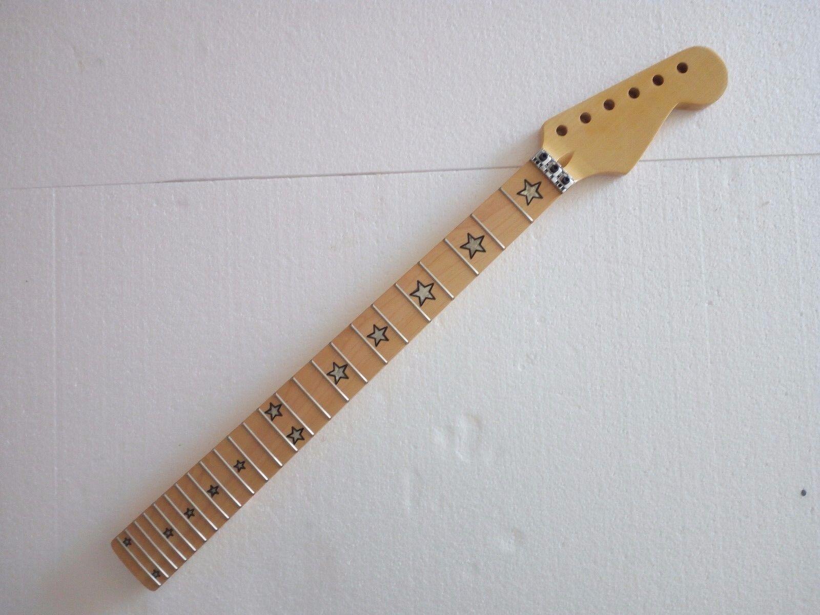 Best Maple E-Gitarre Hals Doppelrolle 24 Fret Ahorn Fretboard Inlay Teile