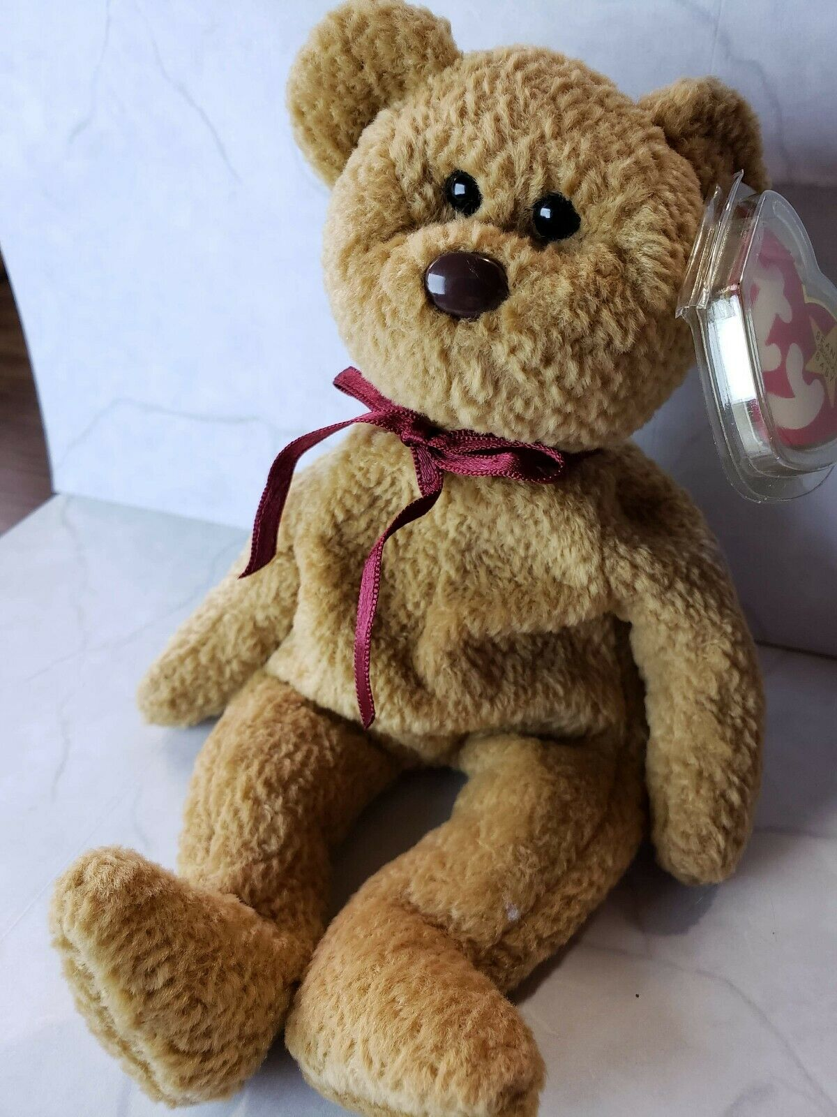RARE TY BEANIE BABY CURLY BEAR RETIRED WITH TAG 1993 1993 1993 1996 9ea43f