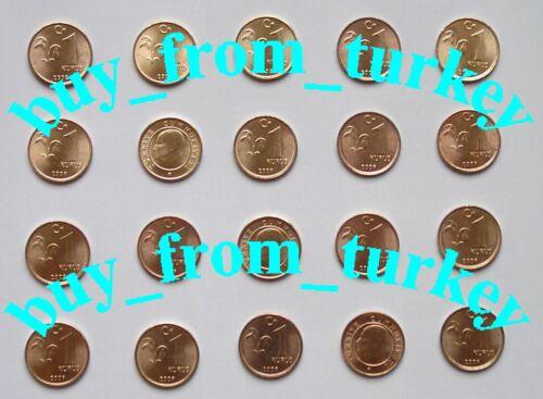 TURKEY 2009 Year 1kr Coins New Unc 20 Piece