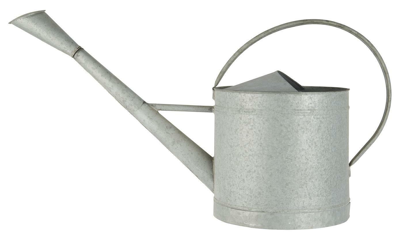 IB Laursen Watering Can Zinc 10 Litre with Handle Grey Metal Garden