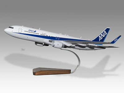 Ana Solid Wood Handmade Model Relieving Rheumatism Boeing 767-300er All Nippon Airways Transportation Collectables Aeronautica