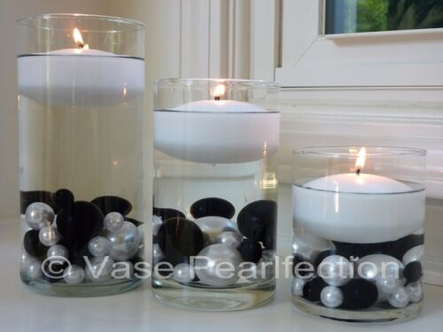 "3/"" Flower White Floating Candles Set of 3 Candles Value Pack Unscentend"