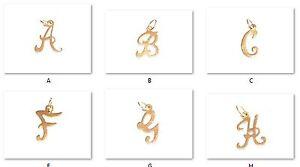 9ct-GOLD-SCRIPT-LETTER-ALPHABET-INITIAL-PENDANT-CHARM-A-Z-Choose-your-letter