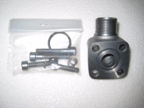 Pumpenflansch Winkel Zahnradpumpe Hydraulik Druck Saug WFL 12 LK 35 mm