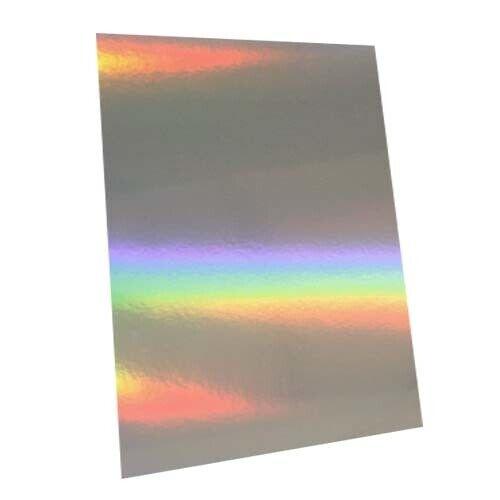 16 in Artisanat Carte environ 40.64 cm 6 Feuilles-Argent arc en ciel Holographique 40.5 cm x 40.5 cm