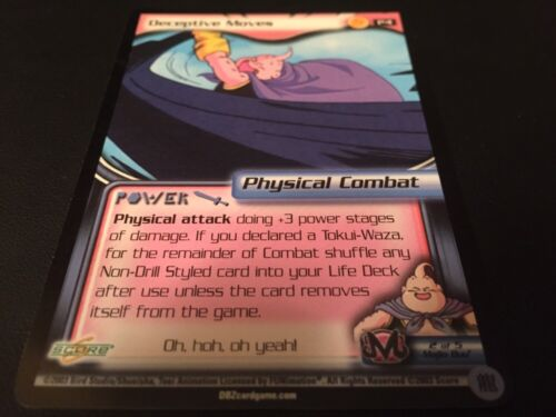 Dragon Ball Z CCG Deceptive Moves P4!! Buy Saga Promo!!