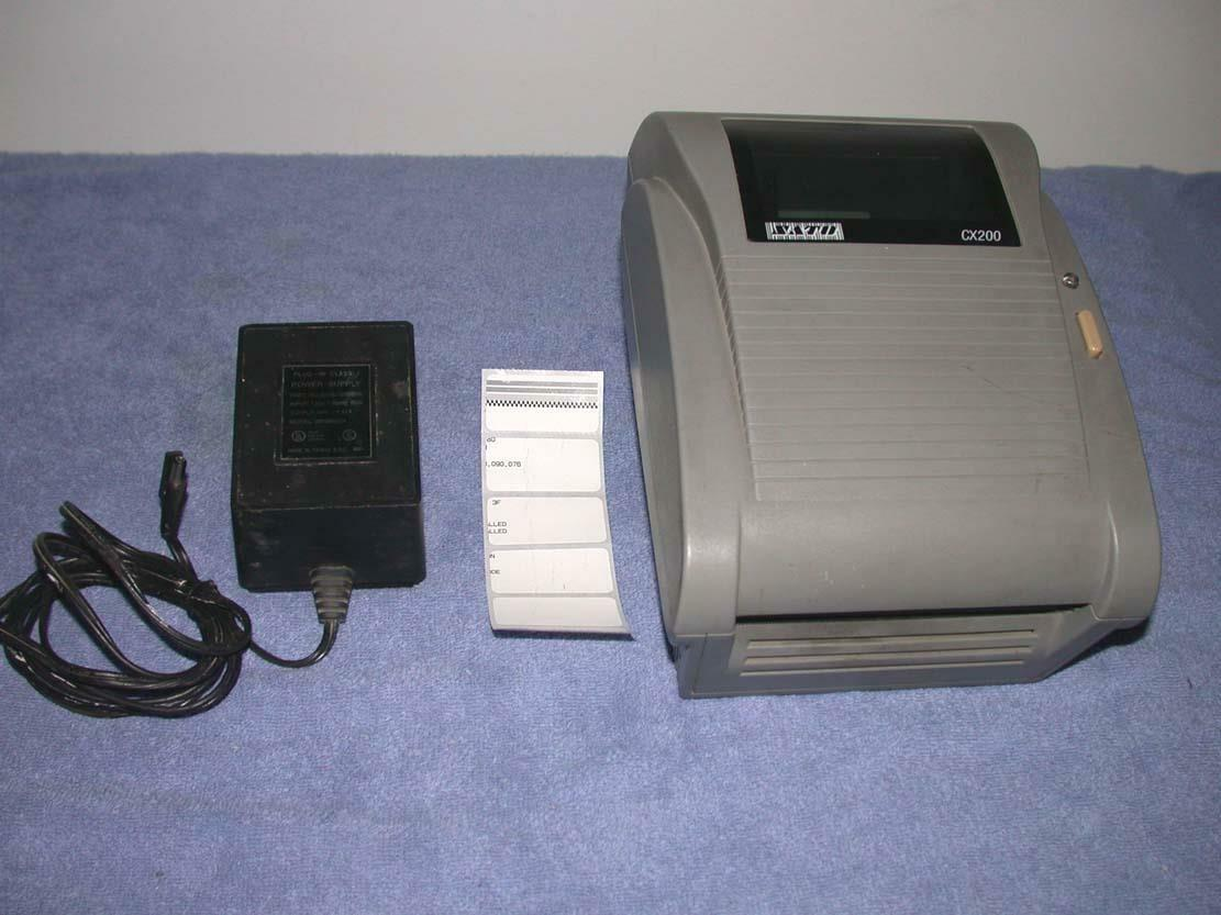 Sato CX200 CX200TT Barcode Thermal Shipping Printer & power supply free s h