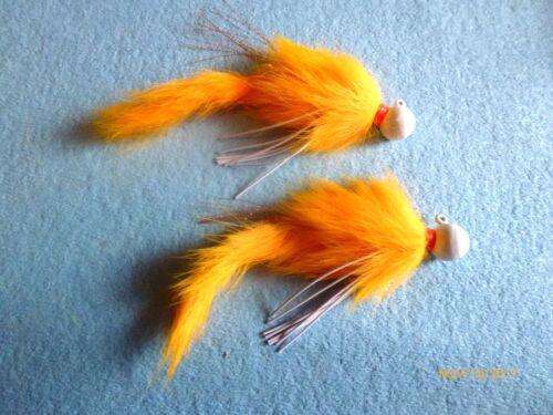 2//0 X2 Steelhead Salmon trout 3//8 oz Orange Fluorescent secousses Jig