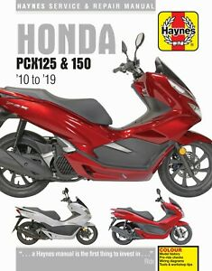 Haynes Manual 6447 for Honda PCX125 & PCX150 Scooters (10 - 19) workshop/service