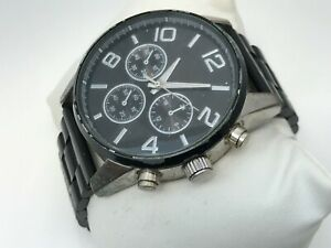 Aldo-Men-Watch-Black-Tone-Analog-Wrist-Watch-Black-Metal-Band