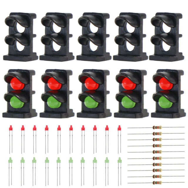 JTD20 10 sets Target Faces With LEDs Railway Dwarf signal HO OO Scale 3 Aspects