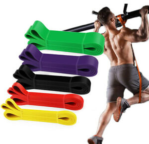 Heavy Duty Resistance Yoga bands loop Exercise Fitness Workout Band Gym