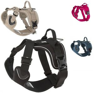 Hurtta-Active-Outdoors-Adjustable-Harness-Dog-Black-Pink-Beige-4-Way-Adjustable