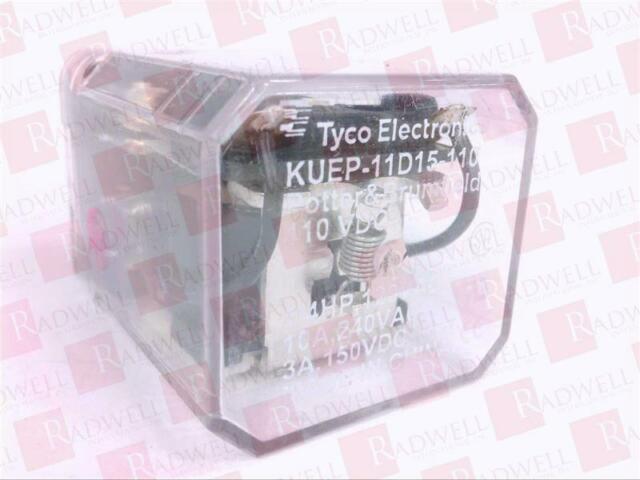 Potter Brumfield 8 Blade KUEP-11D15-110 Power Relay 110 vdc Coil w// Solder Base