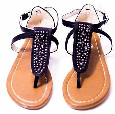 c360aacc6005d Girls Youth Kids Rhinestone Gladiator Sandals Strappy Shoes Flip Flop Flat  child
