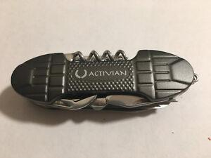Metallic-Black-Oval-Stainless-Steel-Swiss-Camping-Multi-Purpose-Pocket-Knife