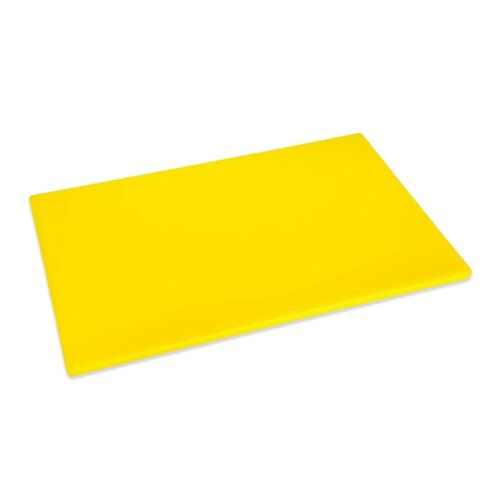 YELLOW CUTTING CHOPPING BOARD LOW DENSITY PLASTIC 450x300mm COMMERCIAL CATERING