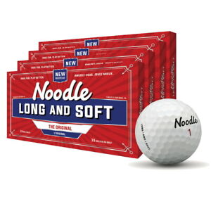 New TaylorMade Noodle Long & Soft Golf Balls - Four 15 Packs (60 Balls)