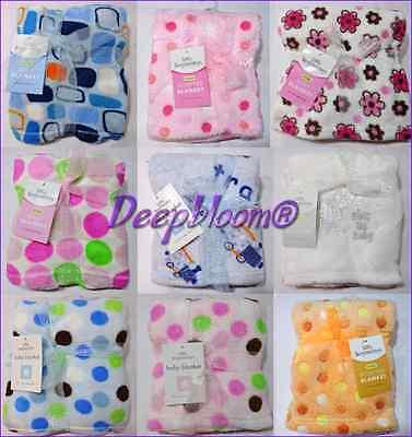 Little Beginnings Fleece Blankets Crib Baby Unisex Boys