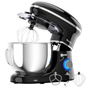 Costway 6.3 Quart Tilt-Head Food Stand Mixer 6 Speed 660W w/Dough Hook, Whisk