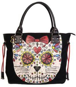 épaule la mort Jour Cat sac de à main Kully florale noire sucre EFq44YwxP5