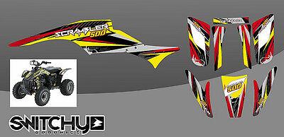 Decal Graphic Kit Polaris Scrambler 500//350 ATV Quad Wrap Part Deco 85-09 ICE P