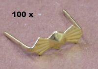 100x Verzierte Prismen Clips 8mm Messing Für Kristalle Prismen Kronleuchter