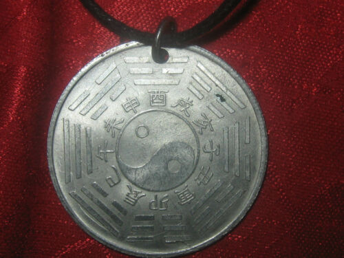 CHINESE ANIMAL UNIQUE DRAGON YING YANG ZODIAC COIN PENDANT JEWELRY NECKLACE