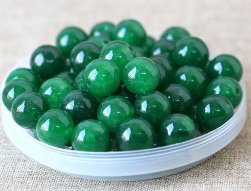 20pcs Natural Jade Stone Gemstone Round Spacer Loose Beads DIY 8mm