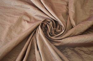 39f017549652 Caricamento dell'immagine in corso TESSUTO-TAFETA-STROPICCIATO -COLORE-MARRONE-ART-GRINCLE