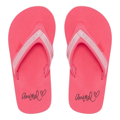 Animal Girls Kids Swish Slim Flip FlopsParadise Pink