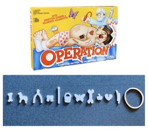 Replacement Pieces /& Parts Complete Set of Funny Ailments Operation Game