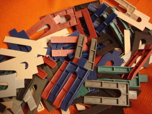 480 x Sortiment Kst Distanzklötze Unterlegkeile Ausgleichsklötze farbig 1-6 mm