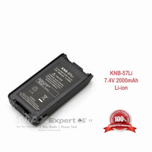 2000mAh Li-Ion KNB-57L Battery for KENWOOD TK-2140 TK-3140 TK-2160 TK-3160