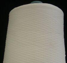 RIBBON 55% NYLON 45% RAYON 3800 YPP LACE WEIGHT CONE YARN 14 LBS WHITE (N6)