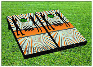 VINYL WRAPS Cornhole Boards DECALS Surfer Wave Board Bag Toss Game Stickers 167