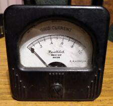 Heathkit Simpson Grid Dip Current Analog Panel Meter 500ua Dc Gd 18