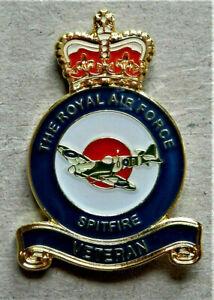 BRAND-NEW-V-DAY-MILITARY-ENAMEL-BADGE-RAF-SPITFIRE-VETERAN-POPPY-DAY