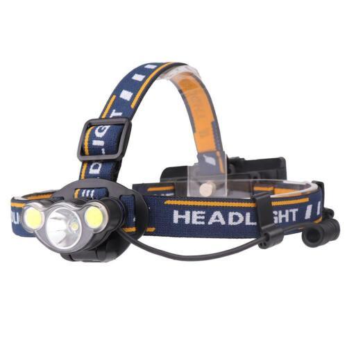 Aluminum alloy T6+2*COB LED Head lamp Headlight Waterproof Lamp light GA