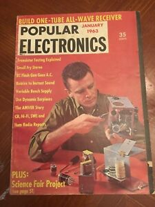 Details about Vintage Popular Electronics Magazine January 1963 Ads 1-Tube  All Wave Receiver
