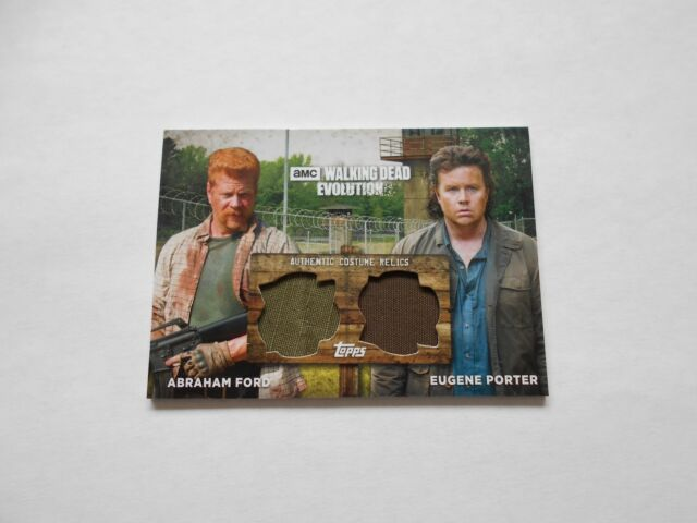 2017 Walking Dead Evolution Abraham Ford/Eugene Porter Dual Relic #15/50 NM/MT