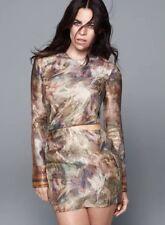 H&M Conscious Collection 2016 Exclusive Gold Silk Blend Dress US 4 EU 34 Kenzo