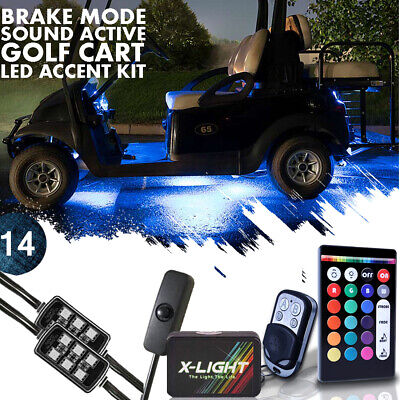 14x Pod For Motorcycle ATV LED NEON Glow Light Lamp 2 Remote Kit w// Power Switch