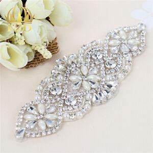 Sliver-Rhinestone-Crystal-Beaded-Applique-for-Wedding-Bridal-Sash-Belt-Headband